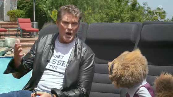 David Hasselhoff - On the Skycouch with Rico
