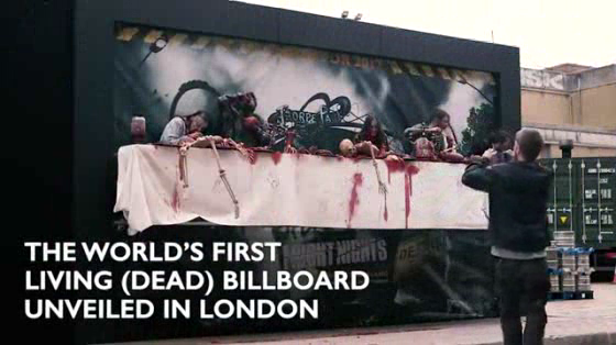 The World's First Living Dead Billboard